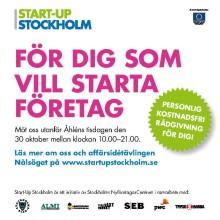 För alla med en affärsidé! Kostnadsfri nyföretagar- och innovationsrådgivning i Kista Galleria idag!