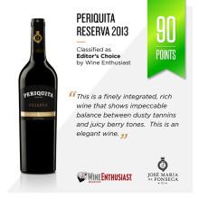 Succén fortsätter - Nytt toppbetyg för Periquita Reserva!
