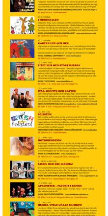 Barnkulturprogram Våren 2014