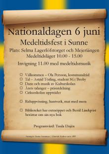 Medeltidsfest i Sunne på nationaldagen