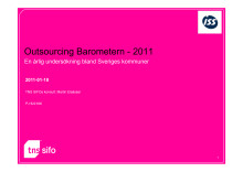 Outsourcingbarometern 2011