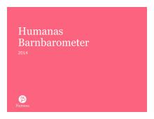 Rapport: Humanas Barnbarometer 2014