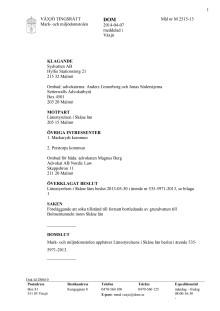 Dom Mark- och miljödomstolen 2014-04-07