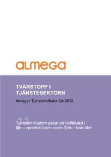 Almegas Tjänsteindikator 2012 Q4
