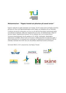 """Miniseminarium - """"Flygets framtid och påverkan på svensk turism"""""""