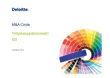 Deloitten yrityskauppabarometri Q3 2014