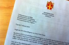Ärkebiskopen skriver till utrikesministern om globalt vapenhandelsavtal