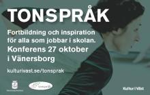 Dags igen för Tonspråk i Vänersborg