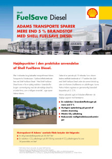 FuelSave Diesel case: Adams Transport