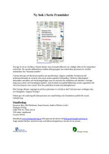 Antologin Utanförskap, informationsblad