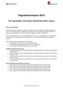 Regnskabsanalysen 2014 - 5 år i den danske detailsektor