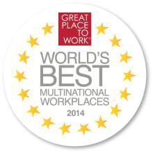 Världens Bästa Multinationella Arbetsplatser 2014 utsedda