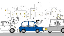 Kuljettajien käyttäytyminen aiheuttaa heijastusvaikutuksia liikenteessä