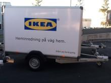Låna en gratis släpvagn på IKEA i Jönköping