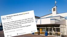 Ryanairflighter med destination Skavsta landade i Västerås