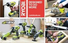 6 Piristävää lisäystä RYOBI® One Plus 18V Akkutyökalusarjaan!