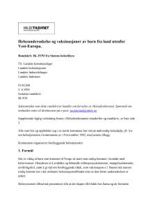 Rundskriv IK-15-1993 som blant annet gir veiledning i helseoppfølging av adopterte bar.