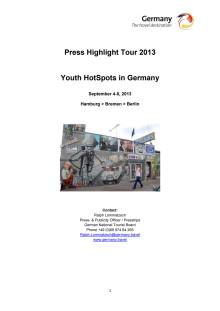"""Åk på pressresa med temat """"Trendiga Tyskland för ungdomar"""""""