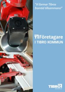 Folder om Tibro och de Tibroföretag som deltar i mässan Elmia Subcontractor 2013