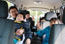 Ambulanse til barnehjem i Kina
