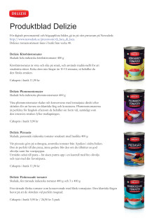 Delizie Tomat - produktblad