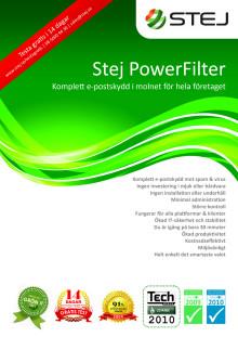 Informationsblad spamfilter: Stej PowerFilter