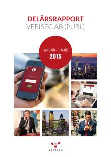 Delårsrapport Verisec AB (publ) januari - mars 2015