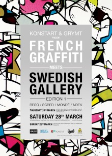 "Konstskolan Basis inleder svenskfranskt kulturprojekt - ""French Graffiti meets Swedish Gallery"" 26/3 - 3/4 2015"