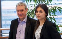 Piratpartiets EU-parlamentariker besöker Norrköping