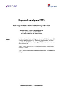 Dansk erhvervsliv - Regnskabsanalysen 2015 - transportsektoren