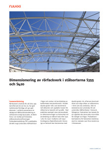 Dimensionering av rörfackverk i stålsorterna S355 och S420
