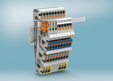 Building installation with push-in three-level terminal blocks