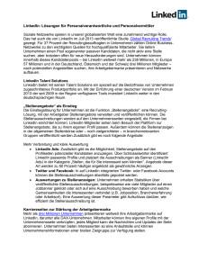 LinkedIn Backgrounder: Produkte für HR-Spezialisten