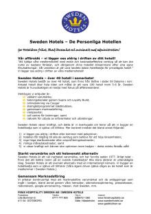 Kortfattat om Sweden Hotels