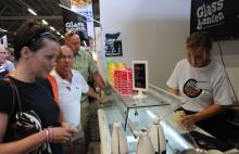 Glassbonden serverar glass från egna fjällkor på Stora Nolia i Piteå