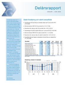 Delårsrapport januari-juni 2009