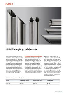 Metallbelagte presisjonsrør