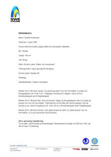 Persondata Gustaf Andersson, Motala AIF CK
