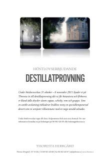 Destillatprovning på Thoresta Herrgård