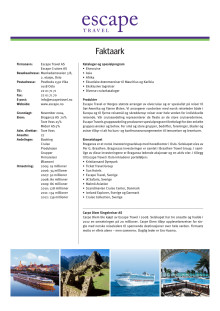 Faktaark/Corporate Fact Sheet per november 2012