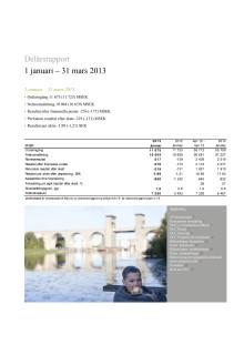 Delårsrapport 1 januari - 31 mars 2013