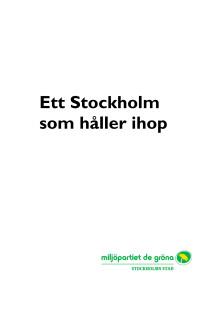 Ett Stockholm som håller ihop