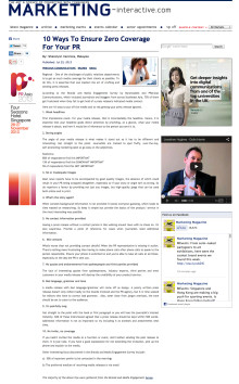Editorial Coverage: Mynewsdesk x Precious Comms Brands and Media Engagement Survey 2013