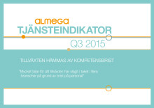 Almegas tjänsteindikator Q3 2015 - kortversion