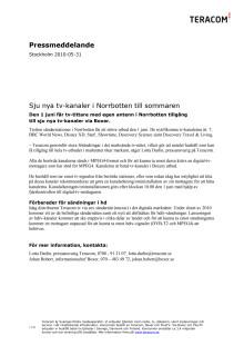 Sju nya tv-kanaler i Norrbotten till sommaren