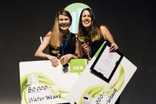 Chalmersstudenternas vinnande affärsidé renar vatten med textilier
