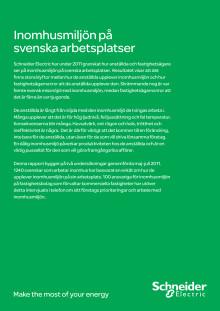 Inomhusmiljön på svenska arbetsplatser av Schneider Electric