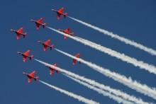 Red Arrows redo för Flygkalaset på Växjö Småland Airport den 6 juni!
