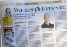 Tänk utanför ramarna för en bättre primärvård, skriver Mats Brolin i en debattartikel i UNT idag.