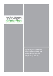 Spårvagnsstäderna's Recommendation for Contractual Terms regarding Trams